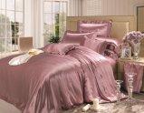 平野は優雅シリーズ絹の簡単で贅沢で継ぎ目が無いクワ絹22のMommeの寝具の寝具一定の絹シートセットを染めた