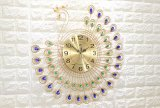 جدار طاووس ساعة & معدن ساعة & طاووس معدن [ولّ كلوك]