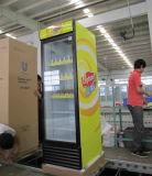 Dispositivo di raffreddamento sottile della visualizzazione della bevanda del singolo portello commerciale del supermercato