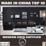 O melhor sofá de couro italiano de venda da mobília de madeira moderna