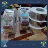 Étiquettes adhésives de couleur d'hologramme olographe bleu de garantie