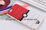 Caja de electrochapado colorida transparente del teléfono celular de TPU para Samsung Moto LG (XSDD-044)