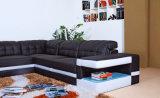 بيتيّة أثاث لازم أسود جلد أريكة مع أريكة ([هك1047])