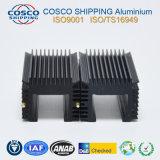 Konkurrierendes Aluminiumkühlkörper-Profil mit dem Schwarzeloxieren und der maschinellen Bearbeitung