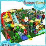 Kleiner 12FT rechteckiger Spielplatz mit Trampoline mit Sicherheitsnetz-Gehäuse
