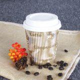 Tazas de papel del yogur del destripador del café de la taza de la pared de la ondulación