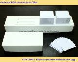 O tamanho 30mil do cartão de crédito Plain o cartão branco do PVC apropriado para a impressão