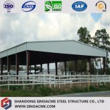 Costruzione commerciale della struttura d'acciaio per la scuderia