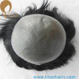 Recolocações finas do cabelo da pele do laço natural da linha fina V para homens