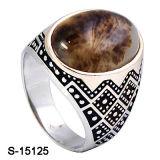 형식 보석 돌을%s 가진 925의 은 남자 반지