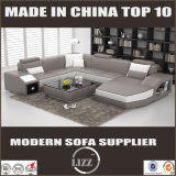 U-Form-Leder-Sofa-Wohnzimmer-Möbel hergestellt im China-Sofa