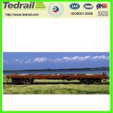 Carro plano ferroviario; Carro plano de la carga; Carro para la venta, plano usado