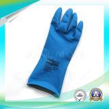 Перчатки латекса анти- кисловочной защитной работы водоустойчивые при ISO9001 одобренное для работы