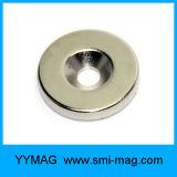 Aimant rond magnétique de boucle de néodyme avec le trou