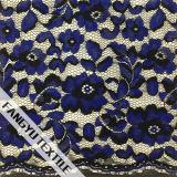 Tessuto di nylon popolare del merletto del cotone di disegno floreale