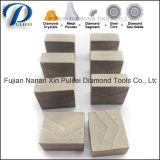il diamante d'acciaio di segmento del granito della parte di taglio della lamierina di 1000mm ha veduto