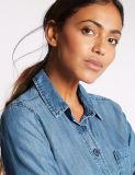 Chemise en jean à carreaux Slim Fit