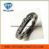 Ring van het Roestvrij staal van Zircon van de Cirkel van de Juwelen van Shineme de Volledige