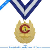 En gros la médaille argentée de récompense de moulage mécanique sous pression avec la lanière