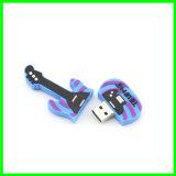 USB Pendrive del PVC de la historieta del palillo de la memoria del USB de la guitarra