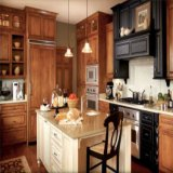 Mobília de madeira da cozinha do estilo do abanador do preço barato