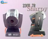luz principal móvil del efecto de etapa de 230W 7r Sharpy con el punto de la viga (A230GS-TA)
