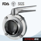 ステンレス鋼の衛生等級の手動溶接された蝶弁(JN-BV1002)