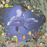 Glattes 3D Ceramic Wall Tile in Ocean