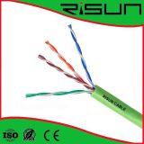 Geben das grüne Cat5e flammhemmende Ethernet-Kabel des twisted- pair, Halogen frei