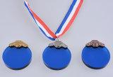 수정같은 메달의 둘레에 주문을 받아서 만드는, 스포츠 상품 품목을%s 수정같은 유리 메달