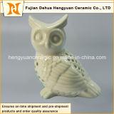 Figurine di ceramica del gufo delle coppie elettrolitiche della decorazione