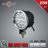 6 인치 27W Round 크리 말 LED Car Work Driving Light (SM-6027-RXA)