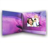 Scheda dell'invito dello schermo dell'affissione a cristalli liquidi video