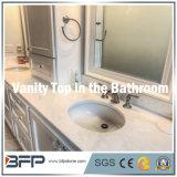 Parte superiore di marmo bianca elegante di vanità per la parte superiore della stanza da bagno/la parte superiore Governo di stanza da bagno