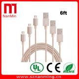 USB de alta velocidad 2.0 un varón a la sinc. micro de B y al cable micro de carga del cargador del USB de la cuerda