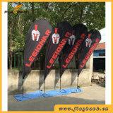 bandierina di alluminio del Teardrop di stampa di Digitahi di promozione di evento di 4.5m/bandierina di volo