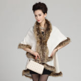 Шаль зимы шерсти Faux способа женщины акриловая связанная теплая (YKY4468)