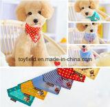 Bandana dell'animale domestico del cotone della sciarpa stampato cane