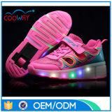 LED-blinkende einziehbare Rad-Kind-Rollen-Schuhe