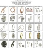 宝石類のヨーロッパの魅力のビードの宝石類R10491のために適した新しい到着のオリジナル925の純銀製のリングの王冠の水晶リング