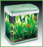 Tanque de peixes de vidro transparente personalizado do aquário da alta qualidade da cor com cor verde (HL-ATC46)