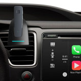O respiradouro de ar Bluetooth 4.0 mãos livra o fone de ouvido do estéreo do atendimento de voz do carro