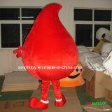 Traje dos desenhos animados da mascote da gota do sangue