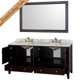 Fed-1569 do mármore elegante dos dissipadores dobro de um Cupc de 72 polegadas armários de banheiro modernos superiores