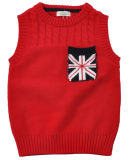 둥근 목 소매 없는 아기에 의하여 수를 놓는 스웨터
