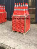 Conos suaves reflexivos flexibles de la seguridad en carretera del tráfico del PVC