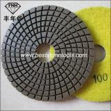 Wd-13 화강암 대리석 닦는 패드 유연한 수지 패드