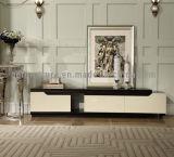 Piernas de mármol modernas del metal del último diseño con el soporte de Drwers TV