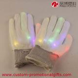 Color material de nylon del producto del partido de Víspera de Todos los Santos que cambia guantes del LED