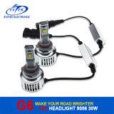 C.C. auto de los bulbos 6000k 8-32V de la linterna del coche LED de la lámpara 30W 3200lm 9006 del coche del alto brillo de la iluminación